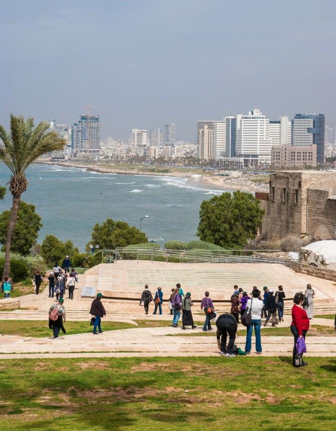Тель Авив Яффо панорама пляжа