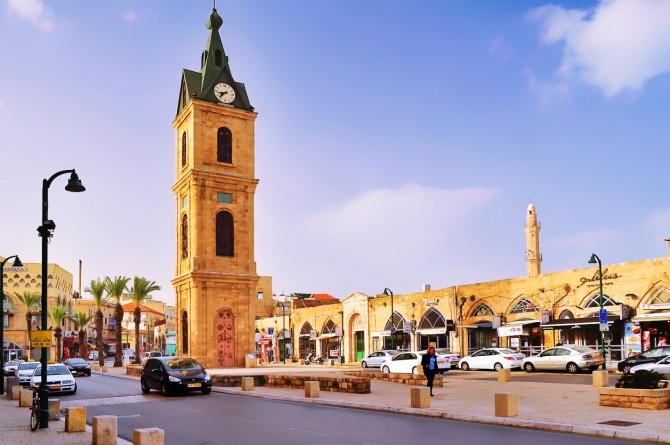 Фото: Путешествие по Израилю: площадь часов в Яффо