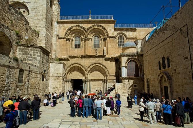 Фото: Иерусалим - старый город, снимок около Храма Гроба Господня