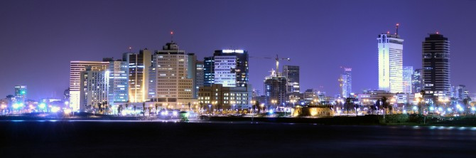 Фото: Панорама ночного Тель Авива: город который никогда не спит