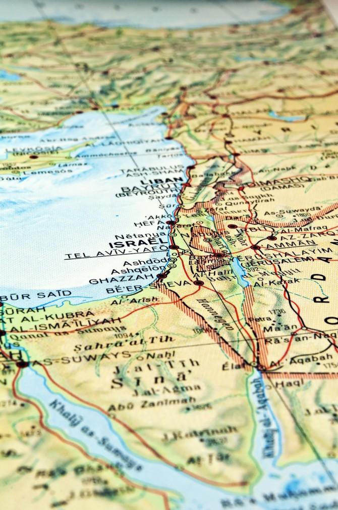 Фото: Подробная карта Израиля на русском языке