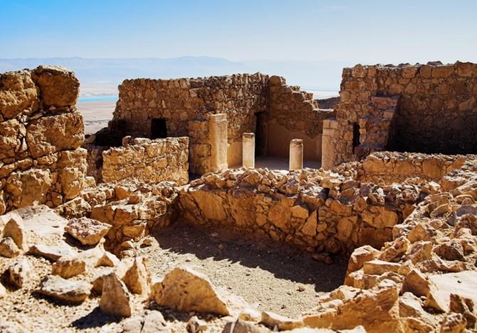 Фото: Руины замка Herods в крепости Масада