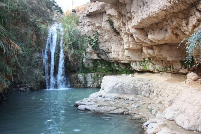 Фото: Водопад в заповеднике Эйн Геди