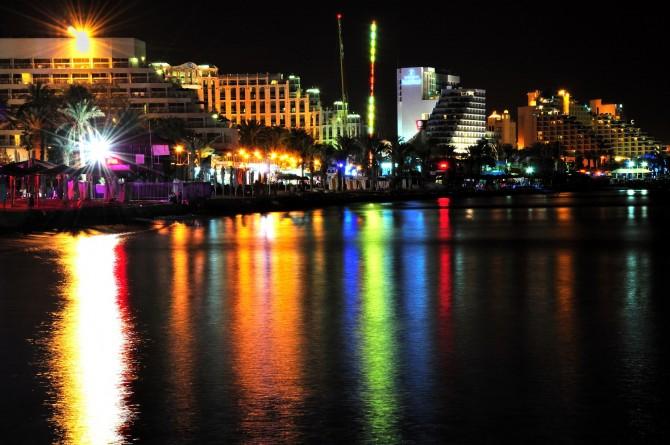Фото: Панорама ночного Эйлата: круглосуточные развлечения и отдых