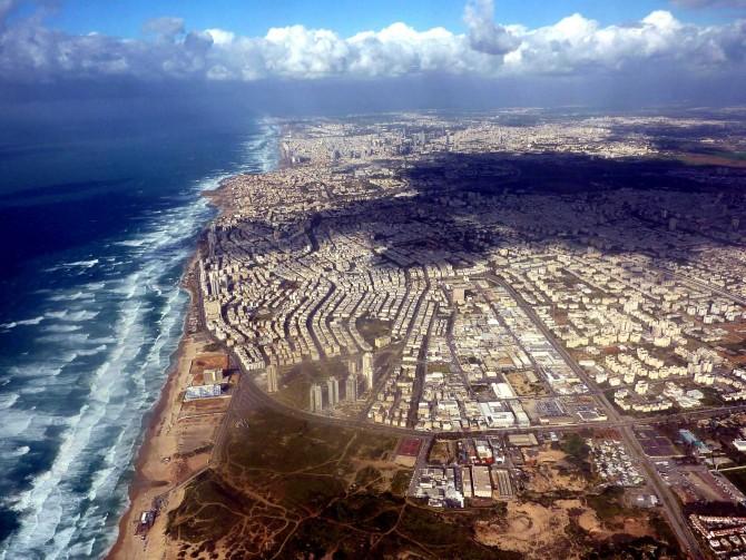 Фото: Взгляд на Тель Авив с высоты птичьего полета