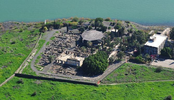 Фото: Вид с воздуха на древний Капернаум