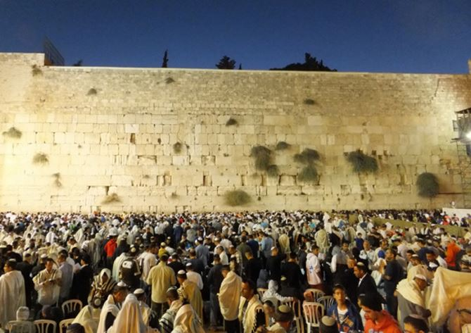 Фото: Праздничная ночная молитва на Шавуот