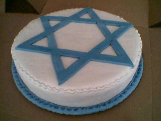 Фото: Звезда Давида на торте