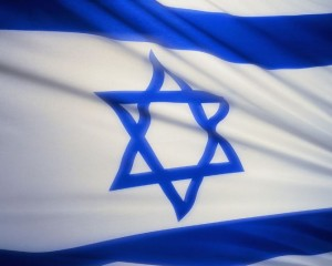 Фото: Шестиконечная звезда на флаге Израиля